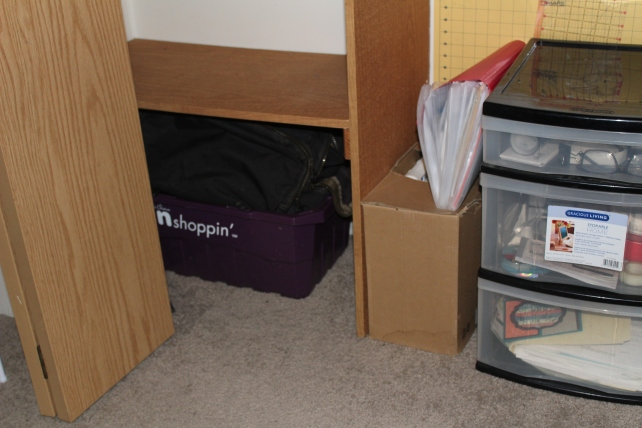 closet-work stuff away