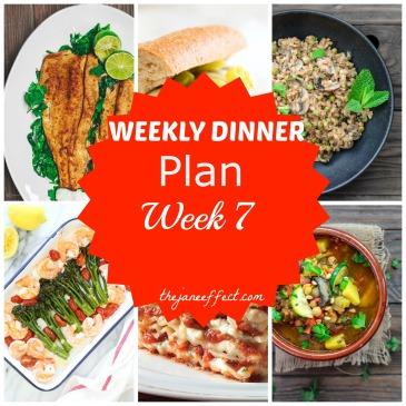 Weekly Dinner Plan - Week 7