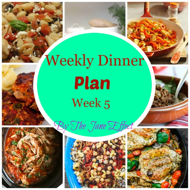 Menu Plan Week 5