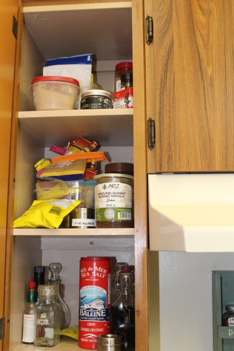 Spice cupboard-messy