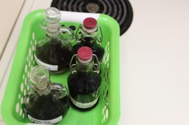 Organized vinegars/oils/sauces