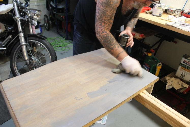 Table-2nd coat going on