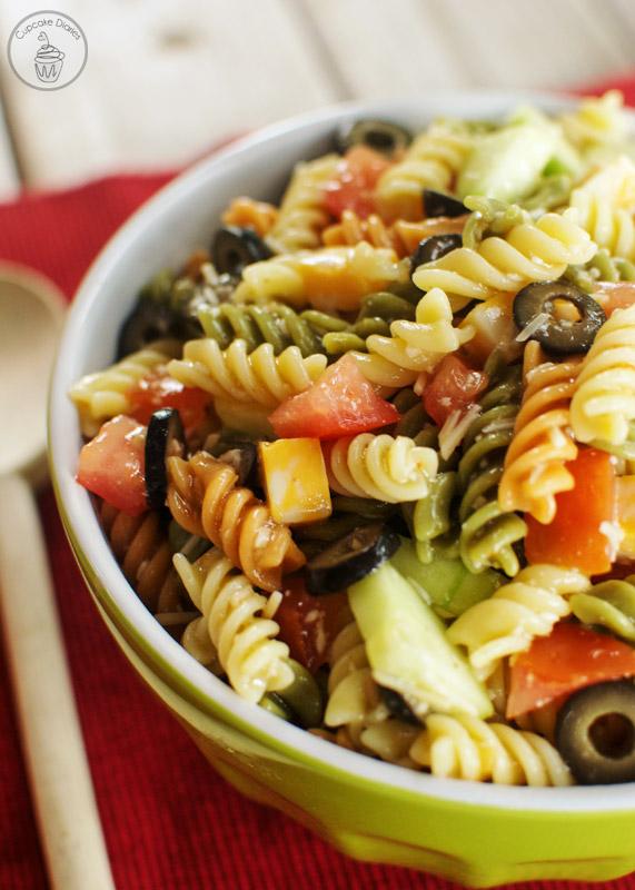 east Italian pasts salad
