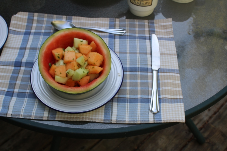 Melon & Mint Fruit Salad